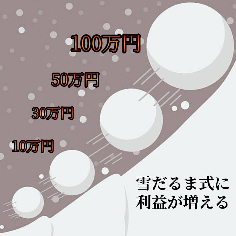雪だるま式